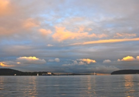 Sunset over Fidalgo Bay