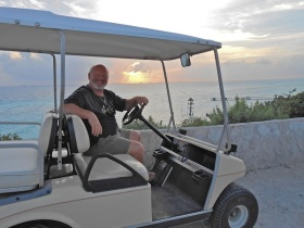Marty and the disappearing golf cart