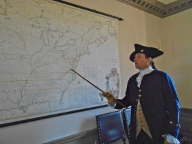 Colonel Washington discussing one of his missions during the French & Indian War in the House of Burgess