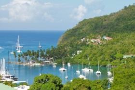Marigot Bay on St. Lucia