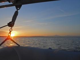 Sunrise over Boundary Bay