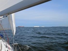 Big boat traffic!