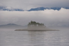 Fog bank over Queen Charlotte Strait