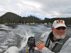 Goin' fishin'!  Sullivan Bay is in the background.