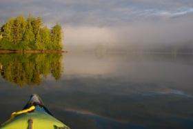 Morning mist in Hessa Inlet