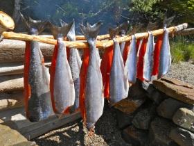 Smoking salmon...YUM