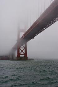 One fog obscured bridge!