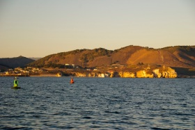The hills of Port San Luis..now you see 'em...