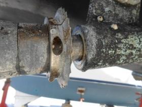Propeller shaft before...