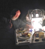 Lobster dinner under the stars...and our forever lamp...does it get any better??