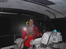 Sailing through the dark...