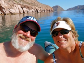 One of our beautiful days spent in the Sea of Cortez...before the Northers!