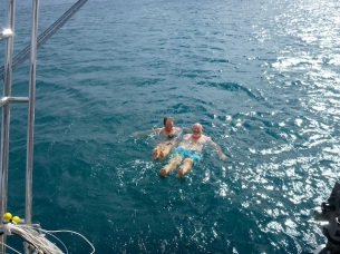 Our first swim in Mexican waters