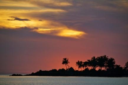 Sunset in the anchorage at Ensenade de Matanchen
