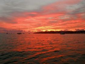 Sunset over the La Cruz anchorage
