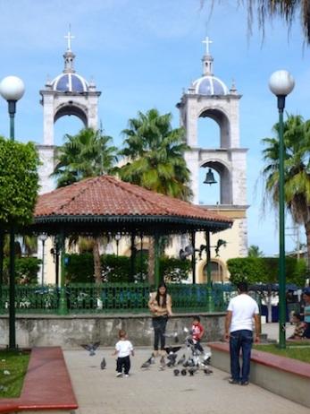 San Blas' central plaza