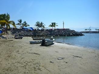 The beach next to the market