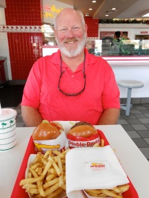 My first In-n-Out burger! YUM!