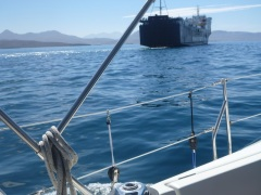 Rutro...following the ferry