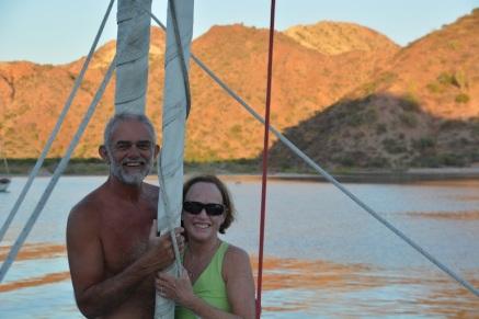 Deb and John in Bahia Ballandra