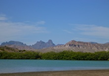 The lagoon and mountains of Bahia San Carlos