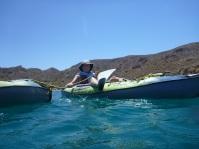 Deb multi-tasking...snorkeling and kayaking