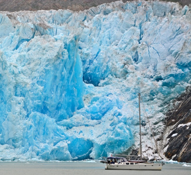 Blue ice in Alaska