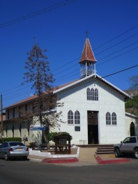 Church of Santa Barbara today - it's made of steel panels