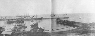 The harbor before 1900 - we are moored in the right lower corner.