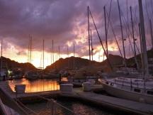 Evening storm passing the marina