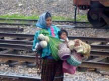 A Tarahumara girl selling her wares
