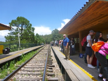 Train station at Posada Barrancas