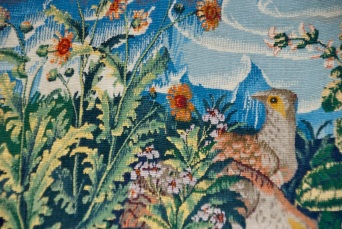 Small section of a tapestry