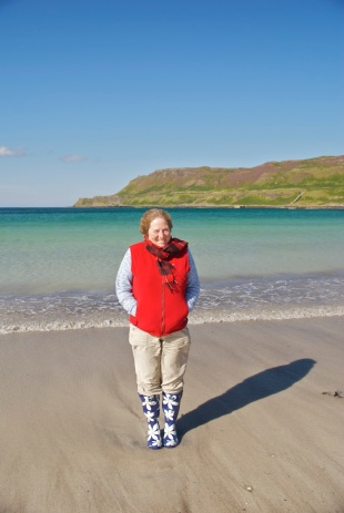 Scottish beach walking