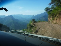 The road hanging off the cliff