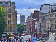 The crowds and beautiful streets of London