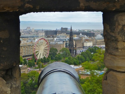 Looking down on Edinburgh