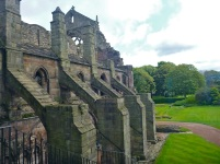Holyrood Abbey from the King's bedchamber