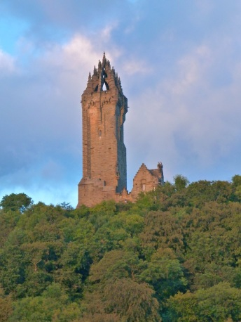 William Wallace memorial from our B&B...