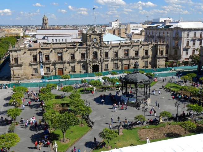 One of many central plazas