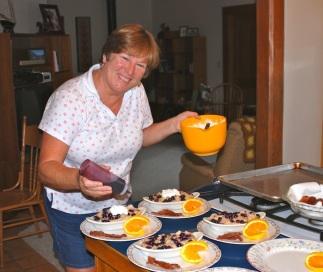 Sue, chef in training