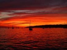An incredible sunset in La Cruz