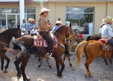 The charros (cowboys) arriving by land