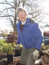 Peggy, the garden crew