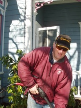 Gene, the ceiling man and pressure washer