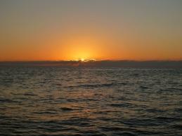Sunset at sea...no green flash tonight
