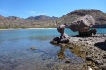 Mushroom rocks in Agua Verde