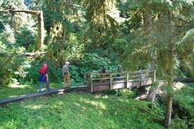 Walking the trail (notice the shotgun)
