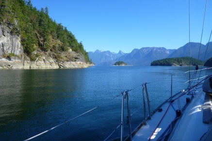 Entering Desolation Sound