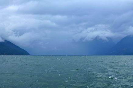 Storm clouds in Desolation Sound